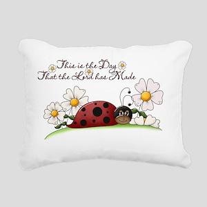Ladybug Rectangular Canvas Pillow