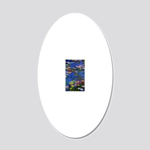 443 Monet WL1916 20x12 Oval Wall Decal