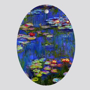 443 Monet WL1916 Oval Ornament
