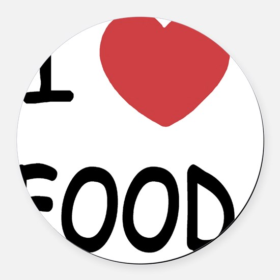 food Round Car Magnet