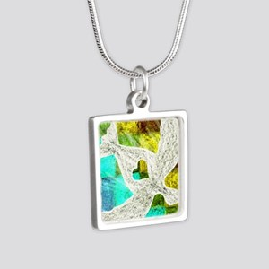 Spirit Silver Square Necklace