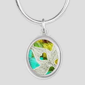 Spirit Silver Oval Necklace