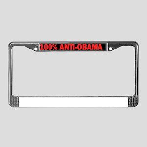 100Anti-Obama License Plate Frame
