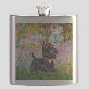 Garden-Scottish Terrier Flask