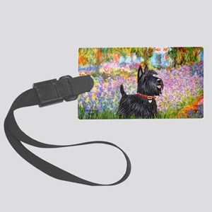 Garden-Scottish Terrier Large Luggage Tag