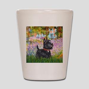 Garden-Scottish Terrier Shot Glass