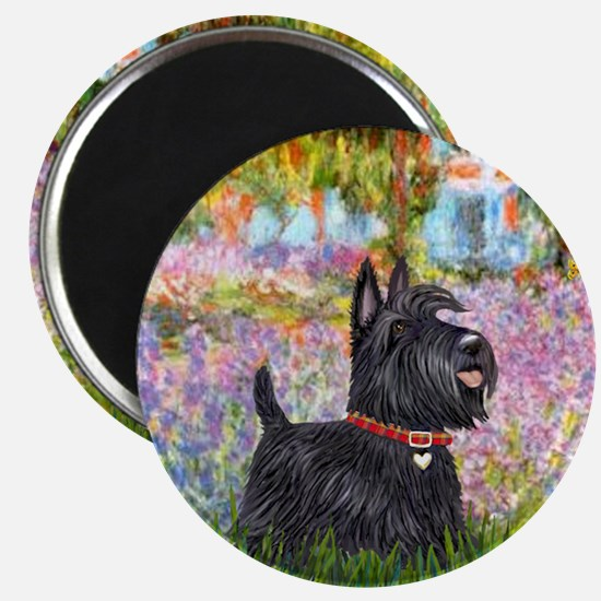 Garden-Scottish Terrier Magnet