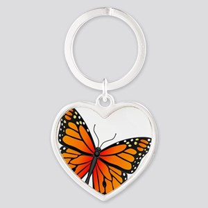 monarch-butterfly Heart Keychain