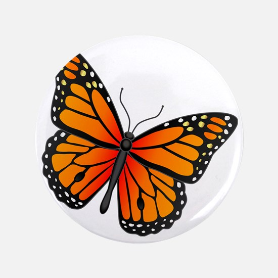 "monarch-butterfly 3.5"" Button"