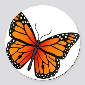 monarch-butterfly Round Car Magnet