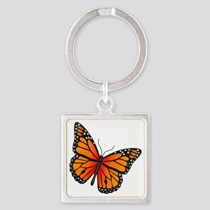 monarch-butterfly Square Keychain