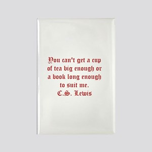 CS Lewis Book Quote Rectangle Magnet