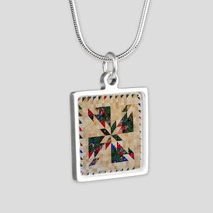 Hunters Star Silver Square Necklace