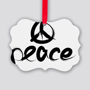 Black Peace Sing Picture Ornament
