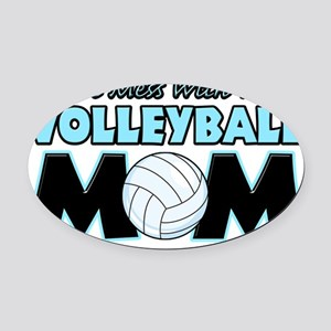 Volleyball Mom Oval Car Magnet