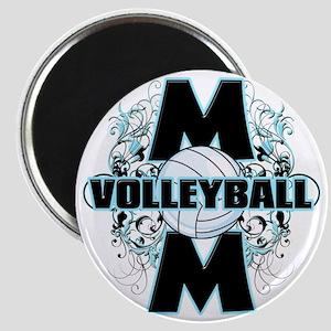 Volleyball Mom (cross) Magnet