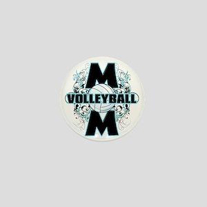 Volleyball Mom (cross) Mini Button