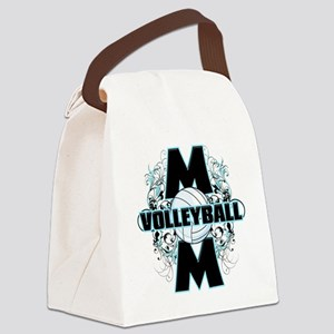 Volleyball Mom (cross) Canvas Lunch Bag