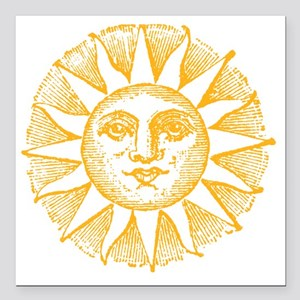 "Sunny Day Square Car Magnet 3"" x 3"""
