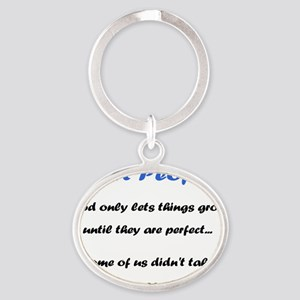 short-people Oval Keychain