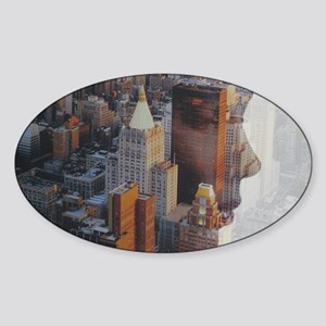 face if the city Sticker (Oval)