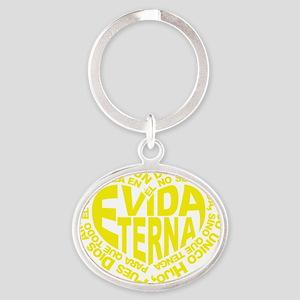 Vida Eterna Oval Keychain