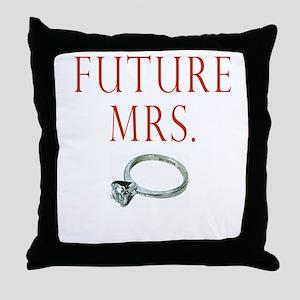 Future Mrs. Throw Pillow