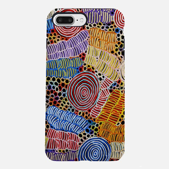 AUSTRALIAN ABORIGINAL ART IN CIRCLES iPhone 7 Plus