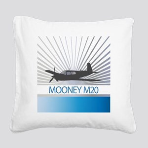 Aircraft Mooney M20 Square Canvas Pillow