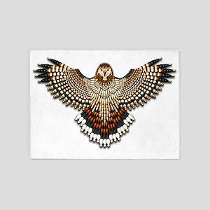 Beadwork Red-Tailed Hawk 5'x7'Area Rug