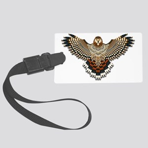 Beadwork Red-Tailed Hawk Large Luggage Tag