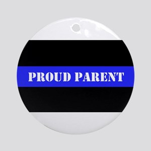 Proud Police Parent Ornament (Round)