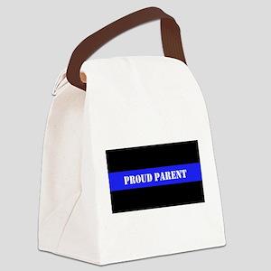 Proud Police Parent Canvas Lunch Bag