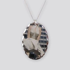 Chicago Marilyn Front View Necklace Oval Charm