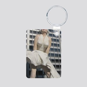 Chicago Marilyn Front View Aluminum Photo Keychain