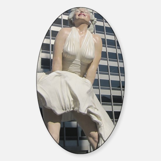 Chicago Marilyn Front View Sticker (Oval)