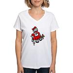 GirlBot Women's V-Neck T-Shirt