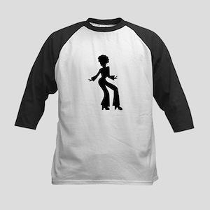 Disco Woman Silhouette Baseball Jersey