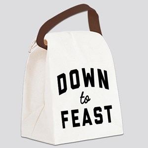 Eat Drink and Be Thankful Canvas Lunch Bag