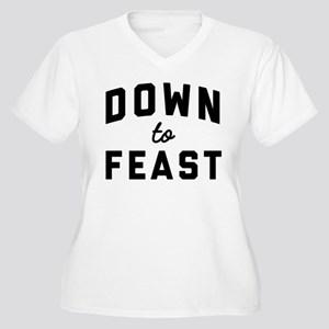 Eat Drink and Be Women's Plus Size V-Neck T-Shirt