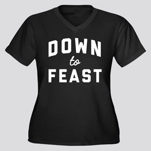 Eat Drink an Women's Plus Size V-Neck Dark T-Shirt