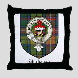 Buchanan Clan Crest Tartan Throw Pillow