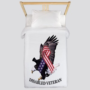 Disabled Veteran Eagle And Ribbon Twin Duvet Cover