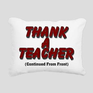 Thank a Teacher Rectangular Canvas Pillow