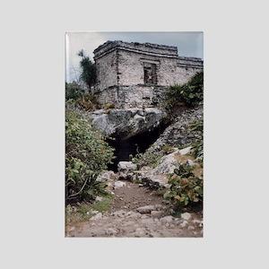 Mayan Building, Tulum, Mexico Rectangle Magnet