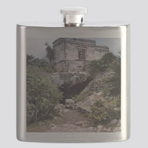 Mayan Building, Tulum, Mexico Flask