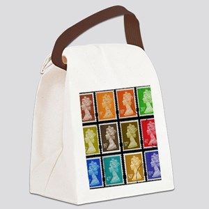 UK Stamps Canvas Lunch Bag