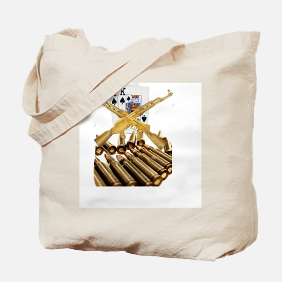 Ace King with Gold AK 47 Tote Bag