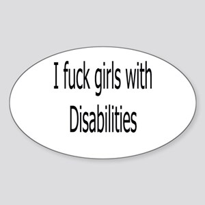 Disabilities Oval Sticker