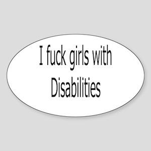 Disabilities Oval Sticker